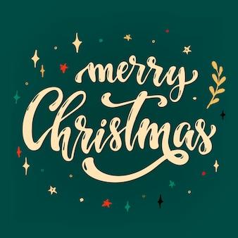 Merry christmas wenskaart, poster, banner