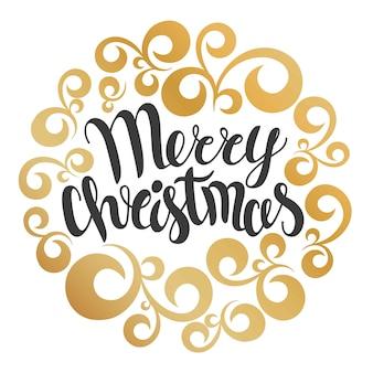 Merry christmas wenskaart.