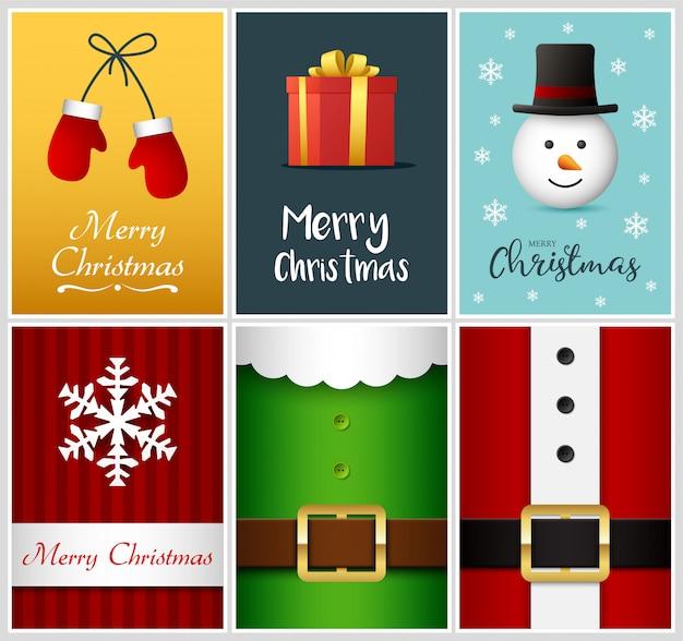 Merry christmas wenskaarten