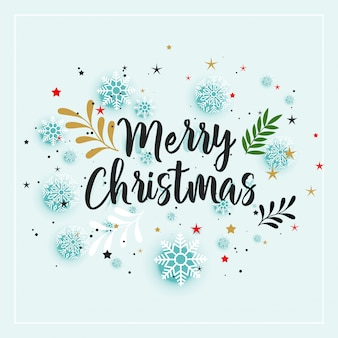 Merry christmas winter decoratie achtergrond