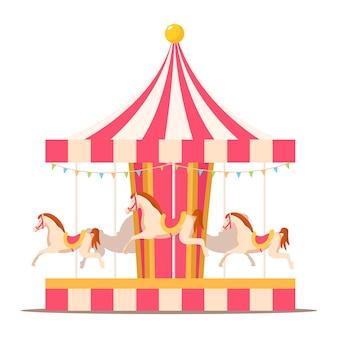 Merry go round vintage carrouselpaarden