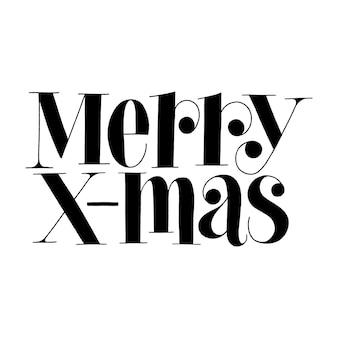 Merry xmas handgetekende belettering offerte voor kersttijd