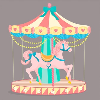 Merrygoround paardrijden