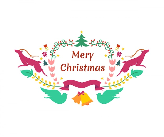 Mery christmast achtergrondelementen