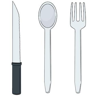 Mes, lepel en vork