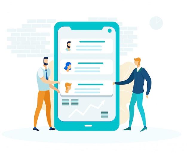 Messaging app development flat