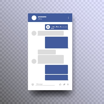Messenger mock up. sjabloon sociaal netwerk