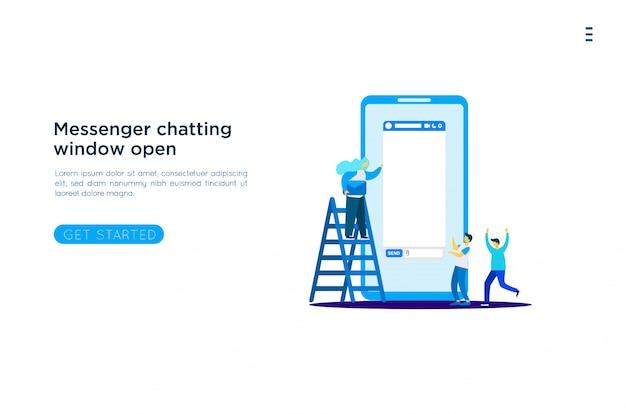 Messenger venster illustratie
