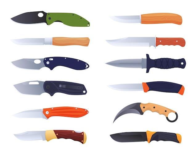 Messenset collectie messen voor diverse doeleinden jachtdolk keukenmes en andere soorten ...