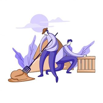 Mest illustratie concept schoonmaken