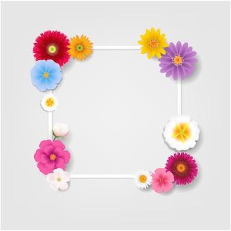 Met bloemen