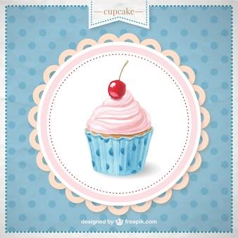 Met de hand beschilderd cupcake