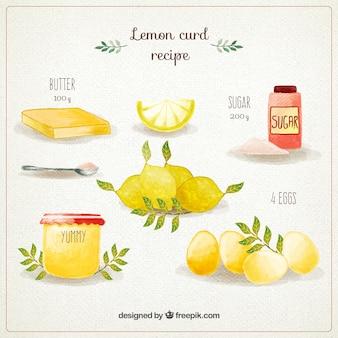 Met de hand beschilderd lemon curd recept