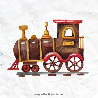 Met de hand beschilderd locomotief