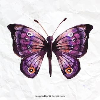 Met de hand beschilderd vlinder