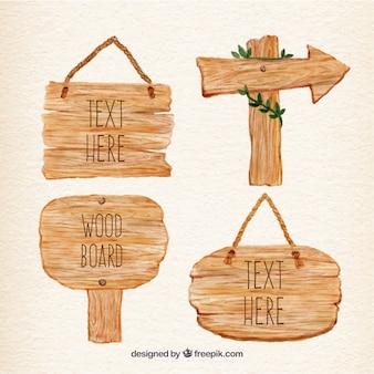Met de hand beschilderde houten bord planken