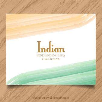 Met de hand beschilderde indiase onafhankelijkheidsdag kaart