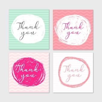 Met de hand gemaakt bedankkaarten