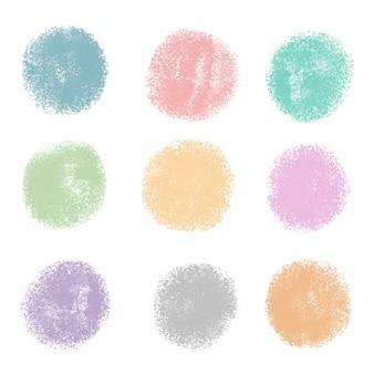 Met de hand gemaakt geschilderd kleurrijk puntenpak
