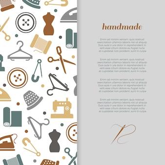 Met de hand gemaakt, handcraft, naaiende banner