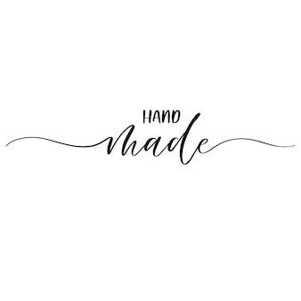 Met de hand gemaakt van elegante kalligrafie inscriptie.