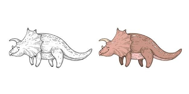 Met de hand gemaakte vectorafbeeldingen van dino's