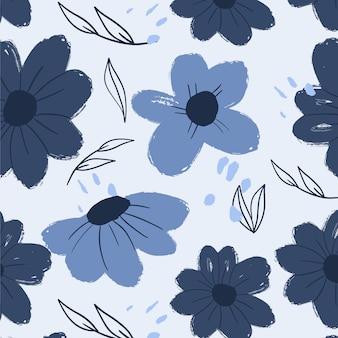 Met de hand geschilderd mooi bloemenpatroon