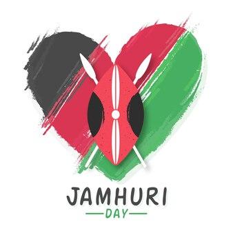 Met de hand geschilderd ontwerp jamhuri-dag
