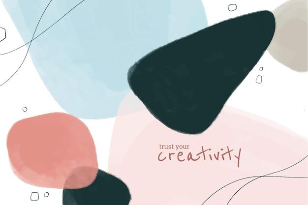 Met de hand geschilderd stijl abstract ontwerp als achtergrond