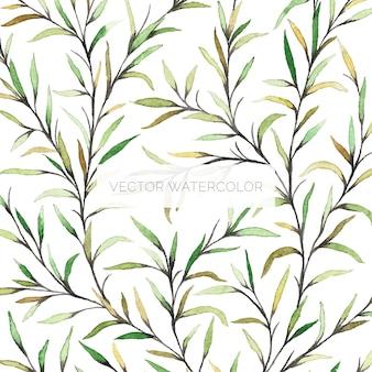 Met de hand geschilderde waterverf botanische illustratie