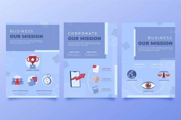 Met de hand getekend plat onze missie flyers