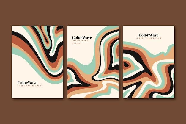Met de hand getekende groovy psychedelische covers