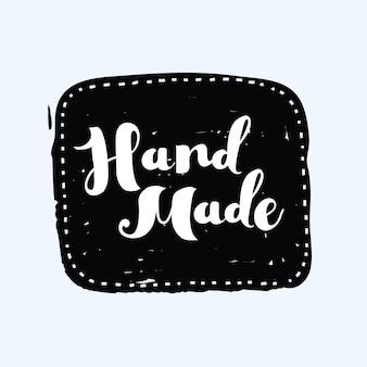 Met de hand getekende handgemaakte handgemaakte stempel en inktvlek met een stevige textuurvorm