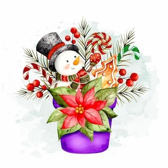 Met de hand getekende kerstemmer