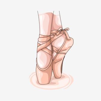 Met de hand getekende kleurrijke balletschoenen 2
