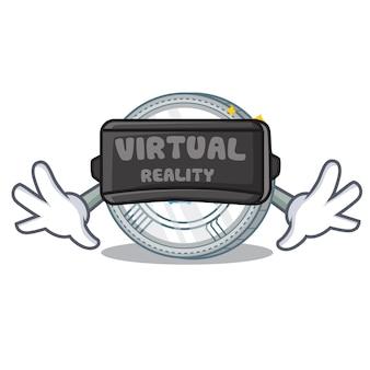 Met de qtum-muntkarakterbeeldverhaal van de virtuele realiteit