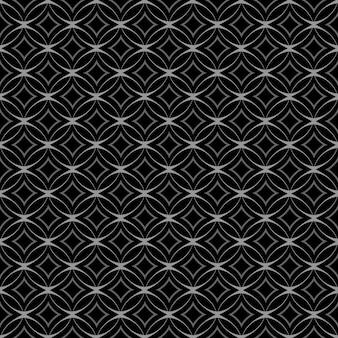 Met elkaar verweven naadloos patroon met cirkels