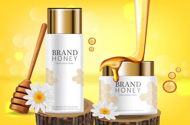 Met honing doordrenkt crèmetiket