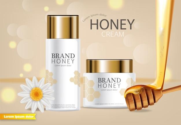 Met honing doordrenkte crème banner