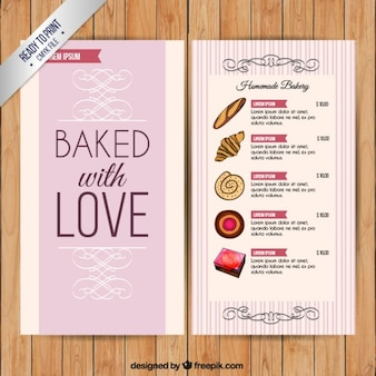 Met liefde gebakken menumalplaatje
