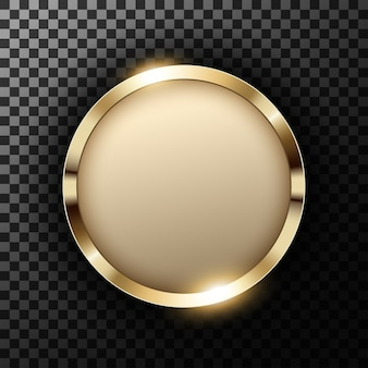 Metaal gouden ring met tekstruimte op transparante geweven