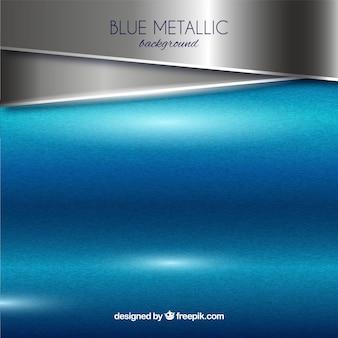 Metaalachtergrond in blauw