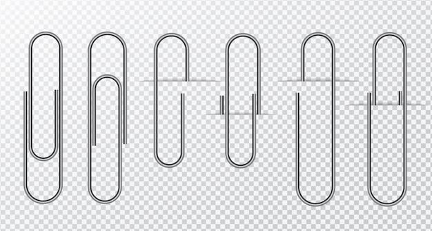 Metaaldraad paperclip op transparant