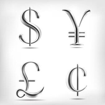 Metaallegering valutatekens instellen