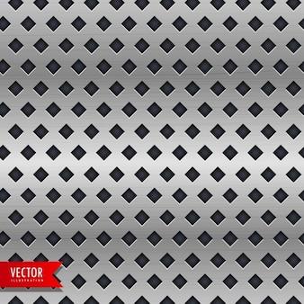 Metal achtergrond met ruitvorm patronen