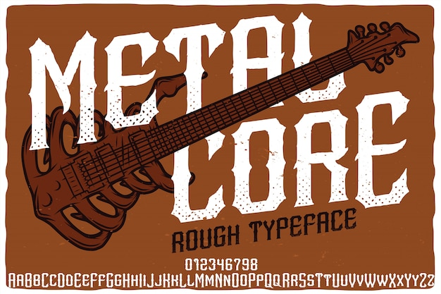 Metal core label lettertype