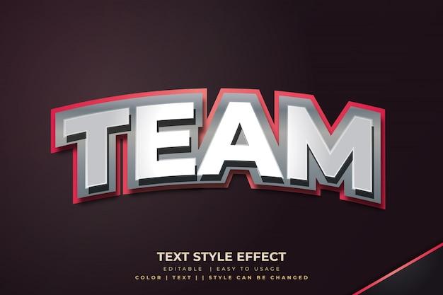 Metalen 3d vetgedrukte tekststijleffect voor teamidentiteit