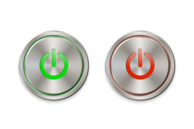 Metalen aan / uit-knop