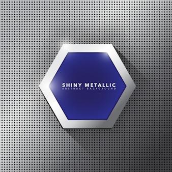 Metalen banner sjabloon