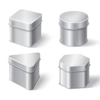 Metalen blikken dozen voor koffie, thee of snoep